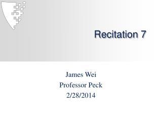 Recitation 7