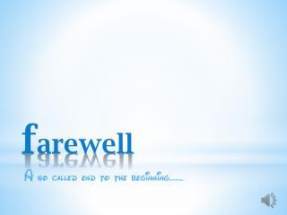 farewell+