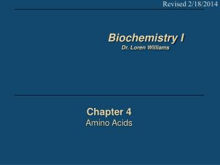 Chapter 4 Amino Acids