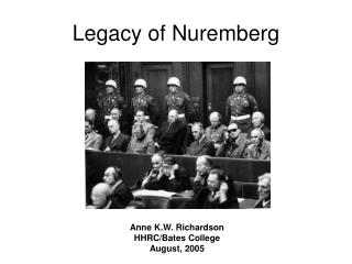 Legacy of Nuremberg