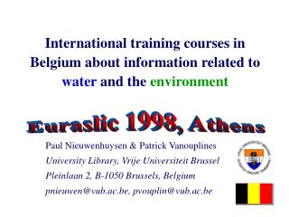 International training courses in Belgium about information ...