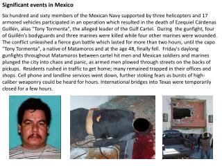 Significant events in Mexico