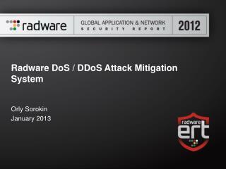 Radware DoS / DDoS Attack Mitigation System