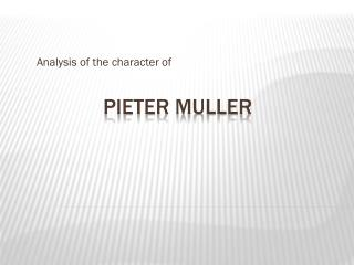 Pieter Muller