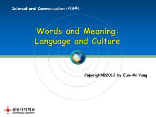 Intercultural Communication  ( 제 9 주 )