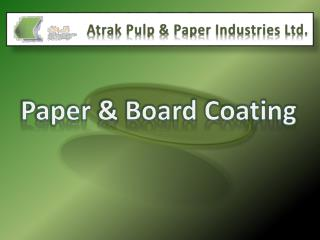 Paper & Board Coating
