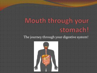 Mouth through your stomach!