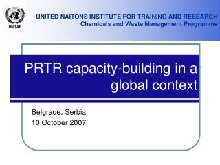 PRTR capacity-building in a global context
