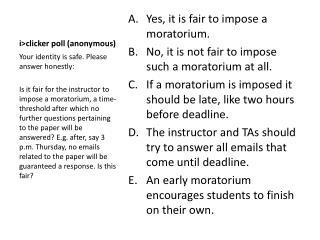 i >clicker poll (anonymous)