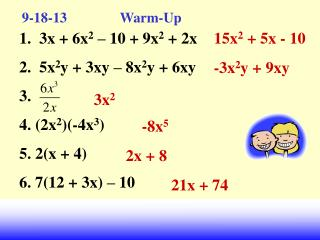9-18-13                Warm-Up
