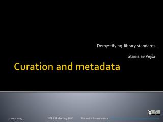 Curation and metadata