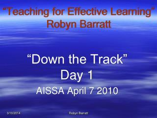 Teaching for Effective Learning
