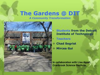 The Gardens @ DIT A Community Transformation