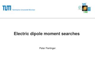 Electric dipole moment searches