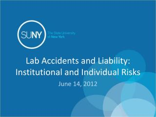 Lab Accidents and Liability: Institutional and Individual Risks