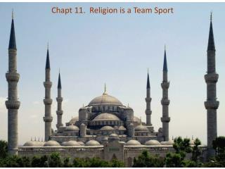 Chapt 11.  Religion is a Team Sport