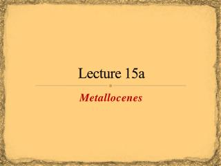 Lecture  15a