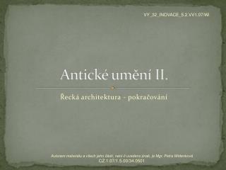 Antické umění II.