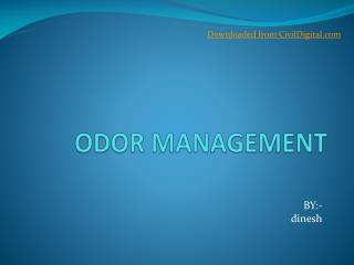 ODOR MANAGEMENT