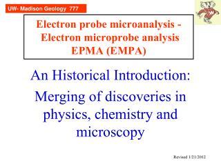 Electron probe microanalysis - Electron microprobe analysis ...