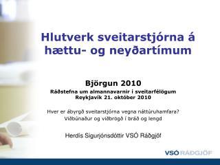Hlutverk sveitarstjórna á hættu- og neyðartímum