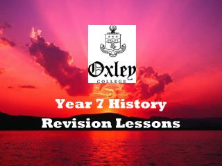 Year 7 History Revision Lessons