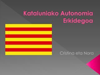 Kataluniako Autonomia Erkidegoa