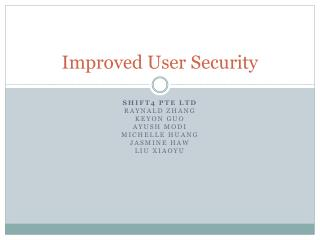 Improved User Security