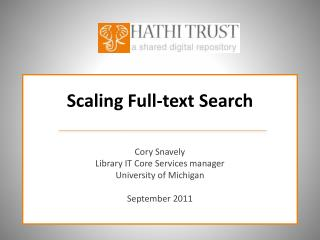 Scaling Full-text Search