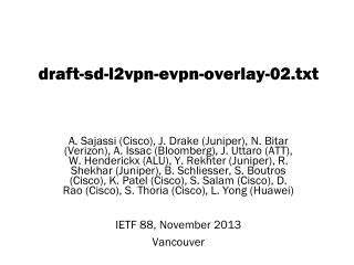 draft-sd-l2vpn-evpn-overlay- 02. txt