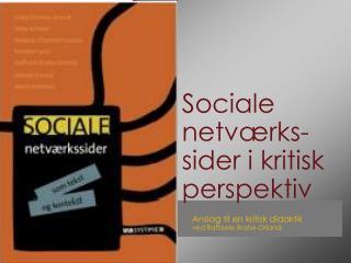 Sociale netværks-sider i kritisk perspektiv