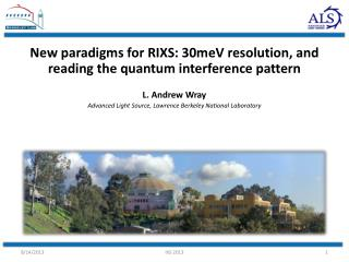 New paradigms for RIXS: 30meV resolution, and reading the quantum interference pattern