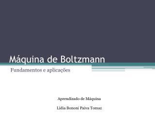 Máquina de Boltzmann