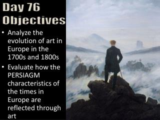 Analyze the evolution of art in Europe in the 1700s and 1800s