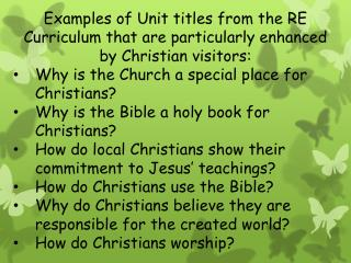 Year 3 unit: How does the church building help Christians to worship?