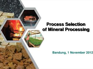 Process Selection  of Mineral Processing