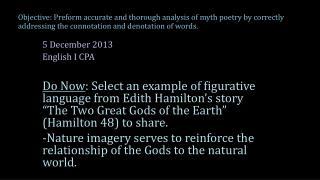 5 December 2013 English  I CPA