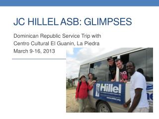 Jc  hillel  asb : glimpses