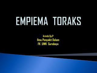 EMPIEMA  TORAKS