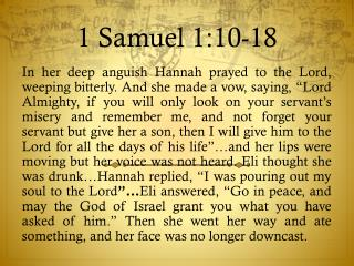 1 Samuel 1:10-18