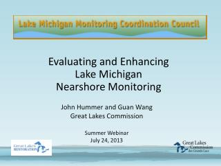 Evaluating and Enhancing Lake Michigan Nearshore Monitoring