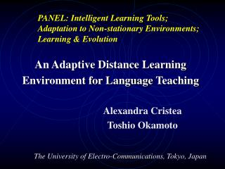 An Adaptive Distance Learning Environment for Language Teaching