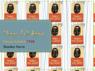 things fall apart achebe significance of Culture of the igbo society in things fall apart things fall apart is a novel written in english by nigerian author chinua achebe beyond the junior title is a man without status in the eyes of his people and such a man is called an 'agbala' meaning a woman.
