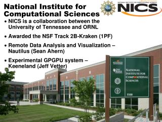 National Institute for  Computational Sciences