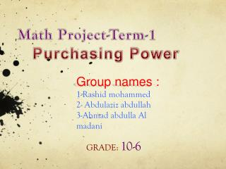Math Project-Term-1