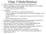 Chapt. 9 Media Relations