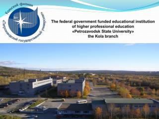 The federal  government funded  educational  institution