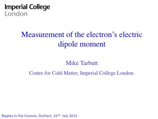 Measurement of the electron's electric dipole moment
