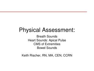Physical Assessment: