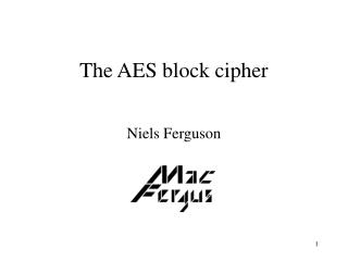 The AES block cipher